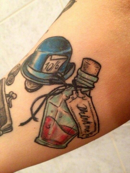 Drink me Alice in Wonderland tattoo | TATTOOS | Pinterest ...