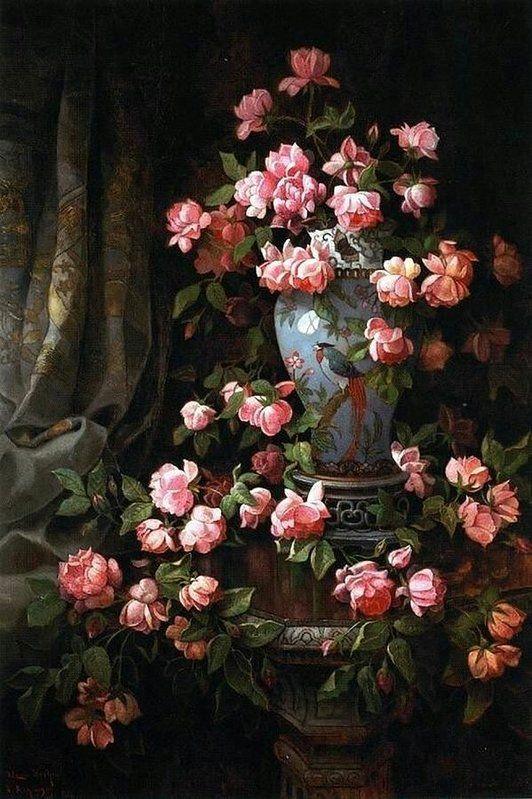 Romantic Roses Pink #renaissanceart