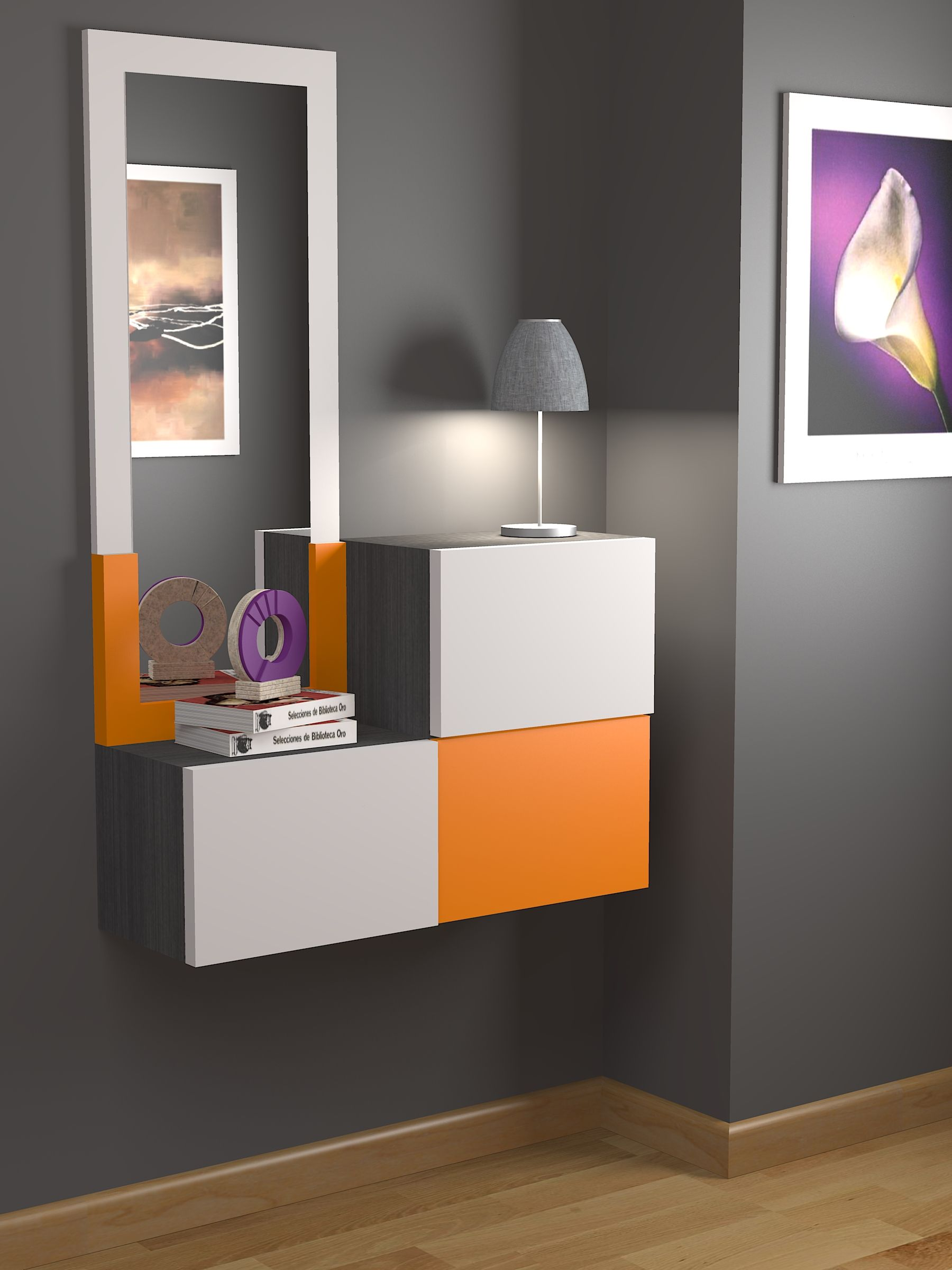 Muebles Recibidores Completamente A Medida Todo Tipo De Opciones  # Muebles Zb Zaragoza