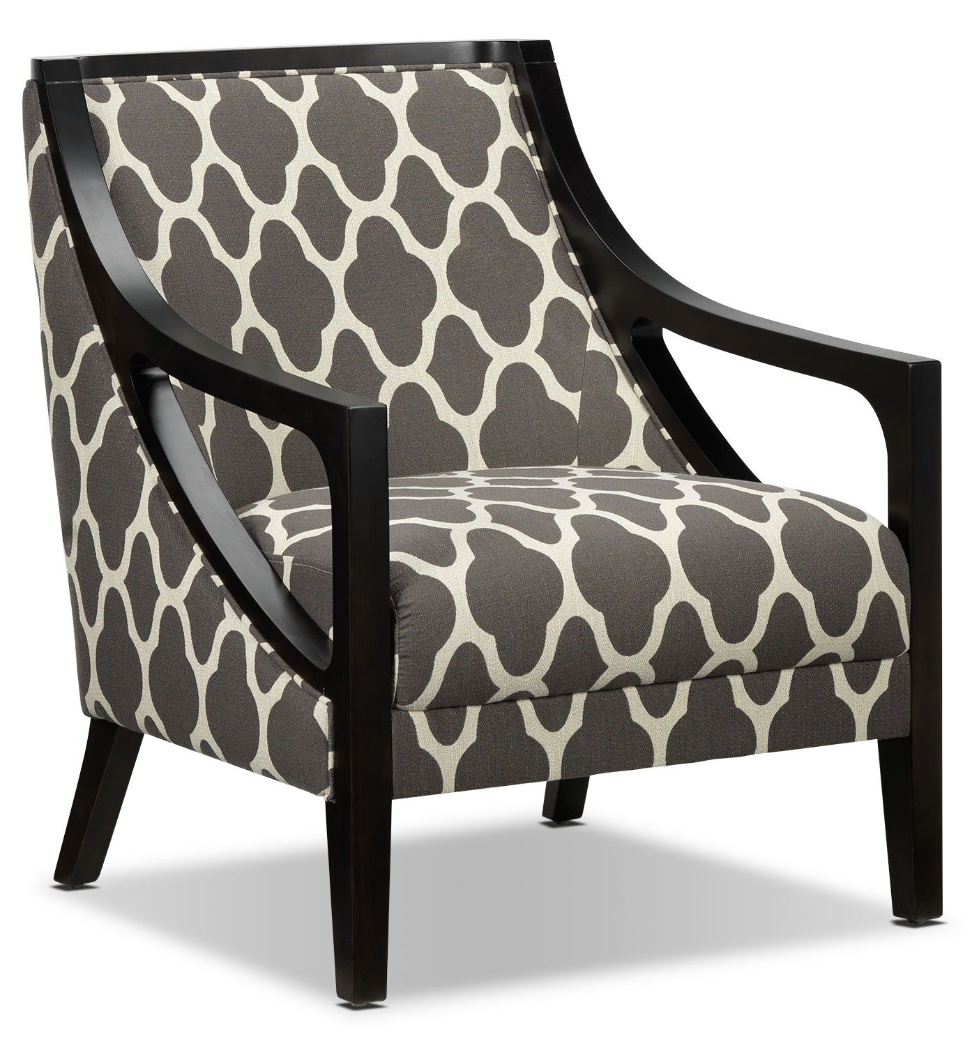 Pattern of Elegance. The Minera accent chair's thoughtful