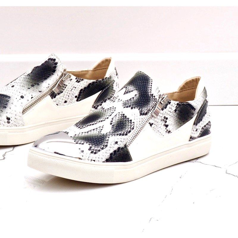 Biale Trampki W Stylu Weza Q48 41 Wielokolorowe Shoes Sneakers Golden Goose Sneaker