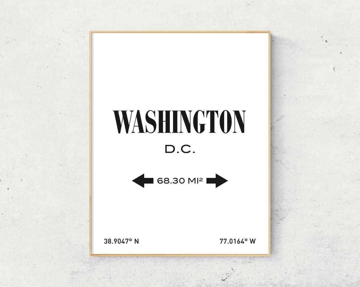 Washington Dc Print Washington Washington Poster