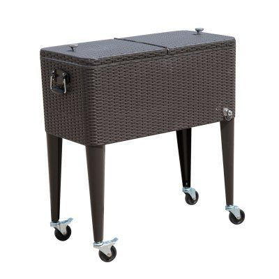 Outsunny 80 Qt Rolling Ice Chest Party Drink Cart Patio Cooler B2 0013 Patio Cooler Clear Dining Chairs Most Comfortable Office Chair