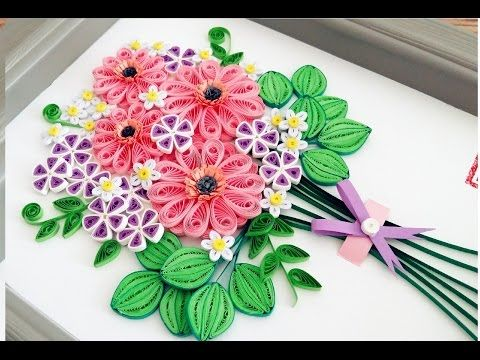 Quilling Flower Decoration Series Quilling Flower Learning
