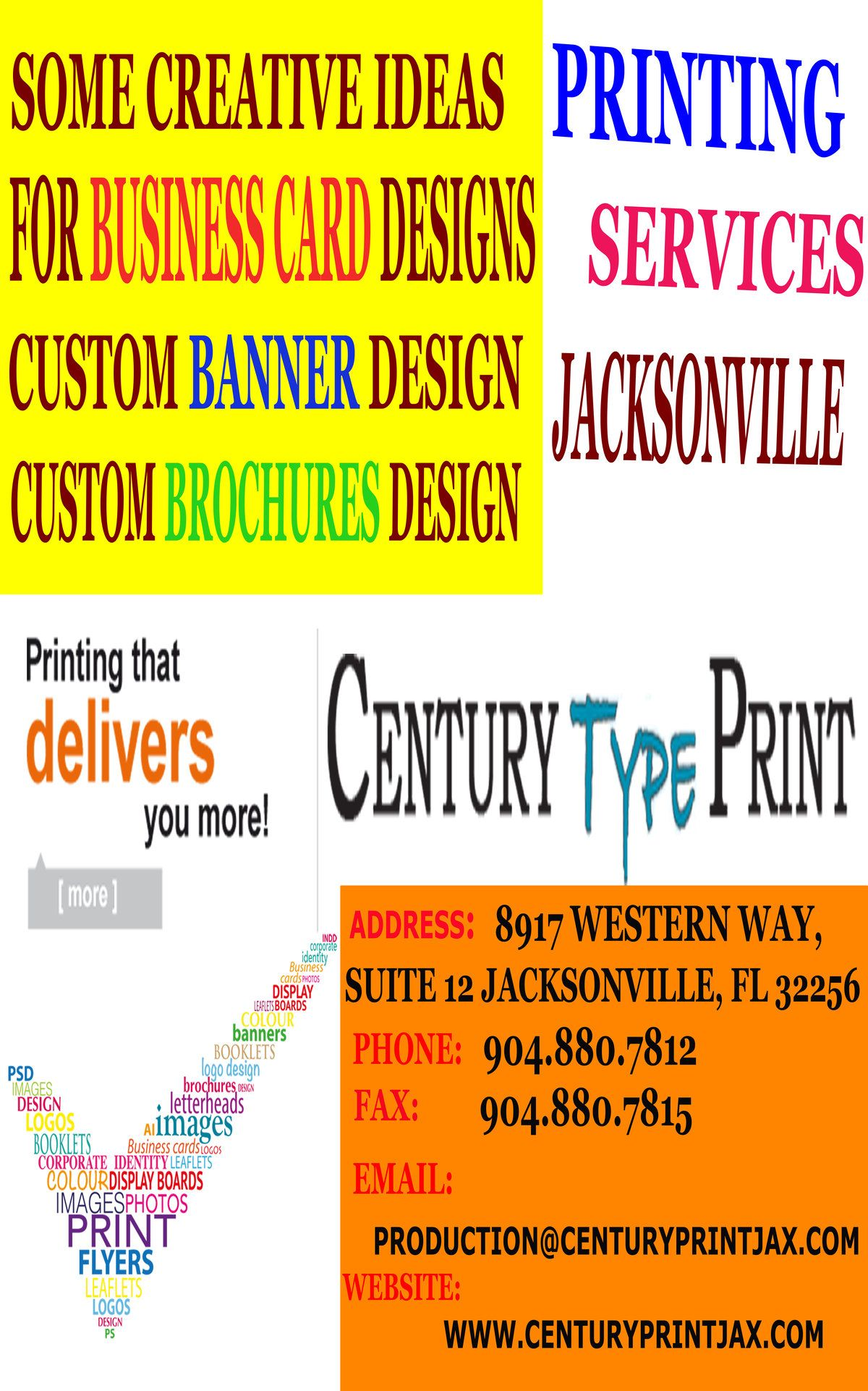 Century type print is committed to customers complete satisfaction whether your jacksonville printing requirements are small or large we want to be your printer of choice as a full service printer in reheart Choice Image