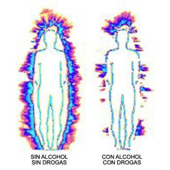 """Las drogas y el alcohol debilitan el aura causando """"huecos"""" o rasgaduras en la misma."""