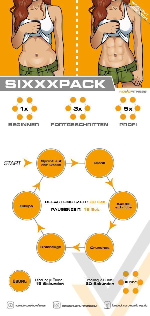 Sixxxpack Workout - Fitness trainingsplan - #Fitness #Sixxxpack #trainingsplan #Workout