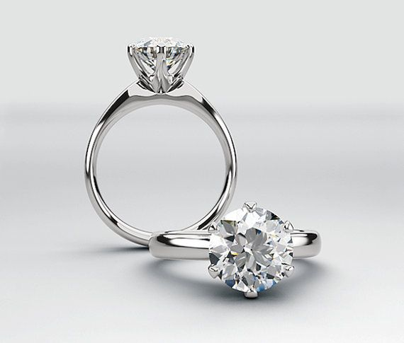 Classic Tiffany Style Engagement Ring 1 50 Carats Forever