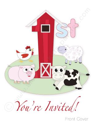 First Birthday Farmyard Party Farm Birthday Invitation Barnyard Birthday Party Farm Birthday Party Invitations
