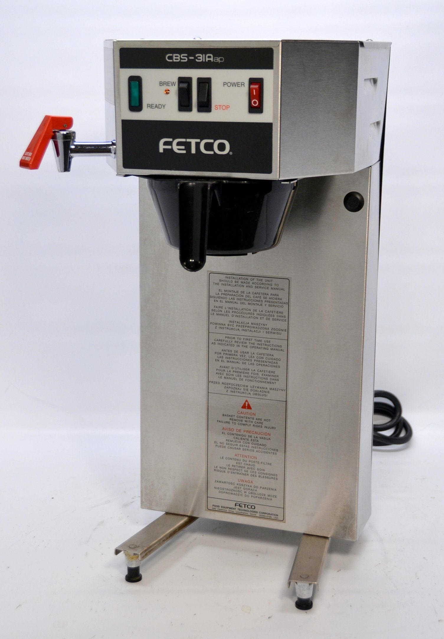 Fetco CBS31Aap Single Airpot Auto Coffee Brewer Machine
