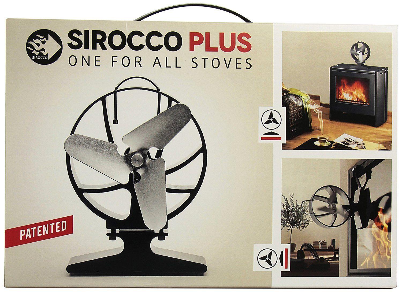 hansa sirocco plus heat powered closed fireplace fan black