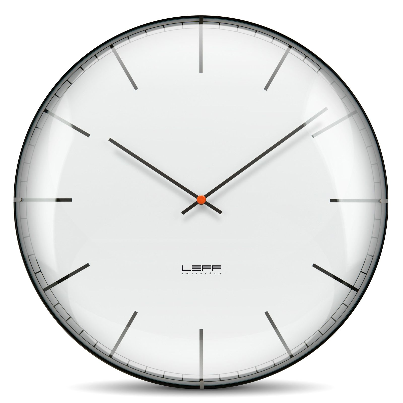 Leff store one gewlbtes glas wei index bbtime pinterest one white index dial wall clock glass amipublicfo Images