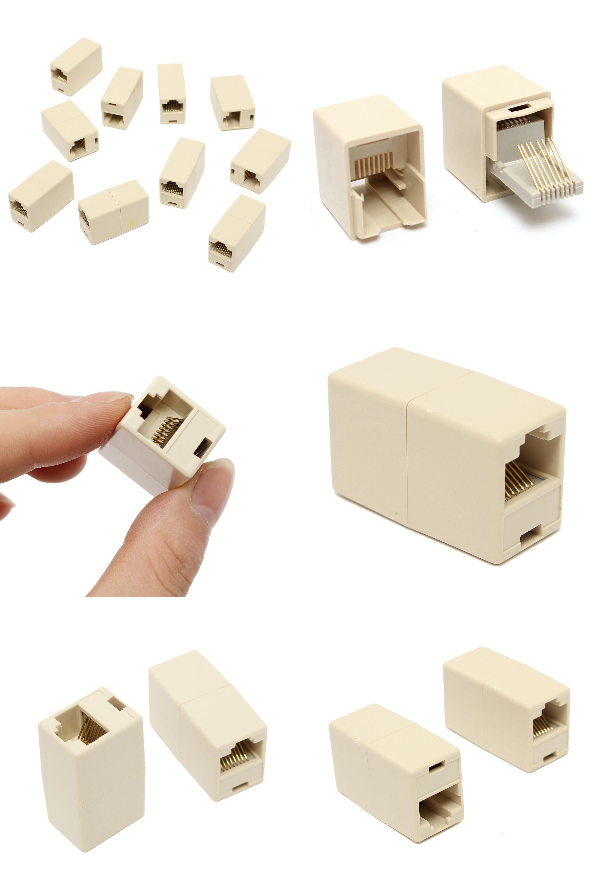 Visit To Buy Popular 10pcs Rj45 Cat5e Straight Network Cable Ethernet Lan Coupler Joiner Female To Female Connecto Network Cable Network Tools Rj45