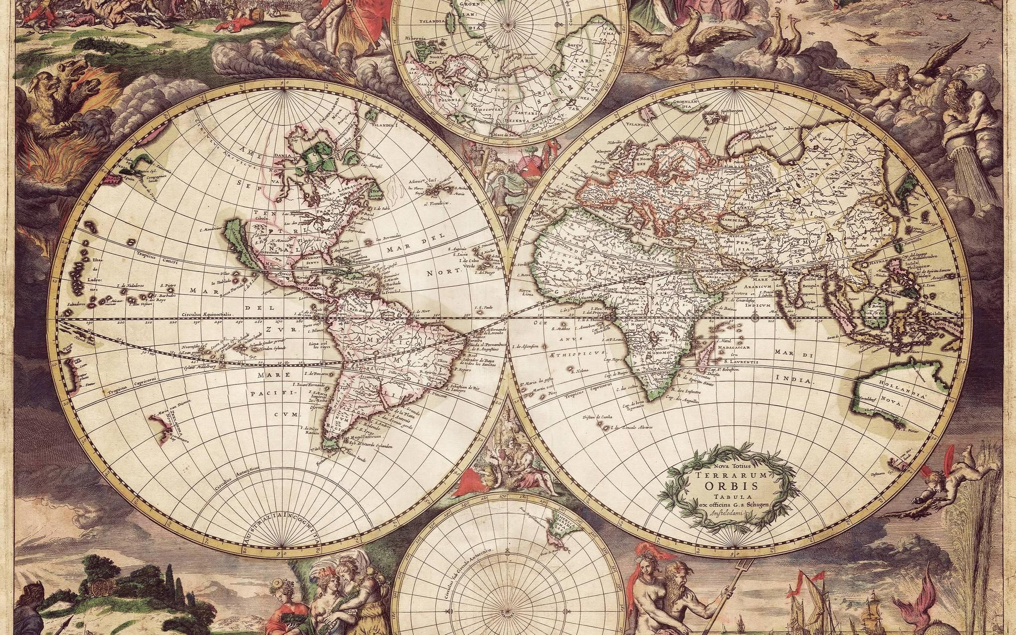 Old Map 2048x1280 R Wallpapers Old Map Old World Maps World Map Wallpaper