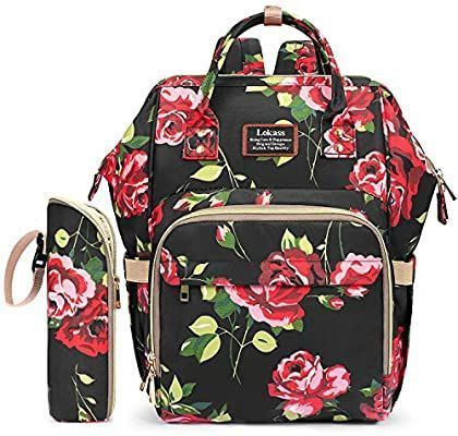 Amazon Com Diaper Bag Backpack Floral Baby Bag Water Resistant