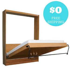 Diy Murphy Bed Hardware Kit With Free Shipping And Free Plans Build Your Own Panel Bed Frame And Cabinet Diy Murphy Bed Kit Murphy Bed Frame Murphy Bed Kits