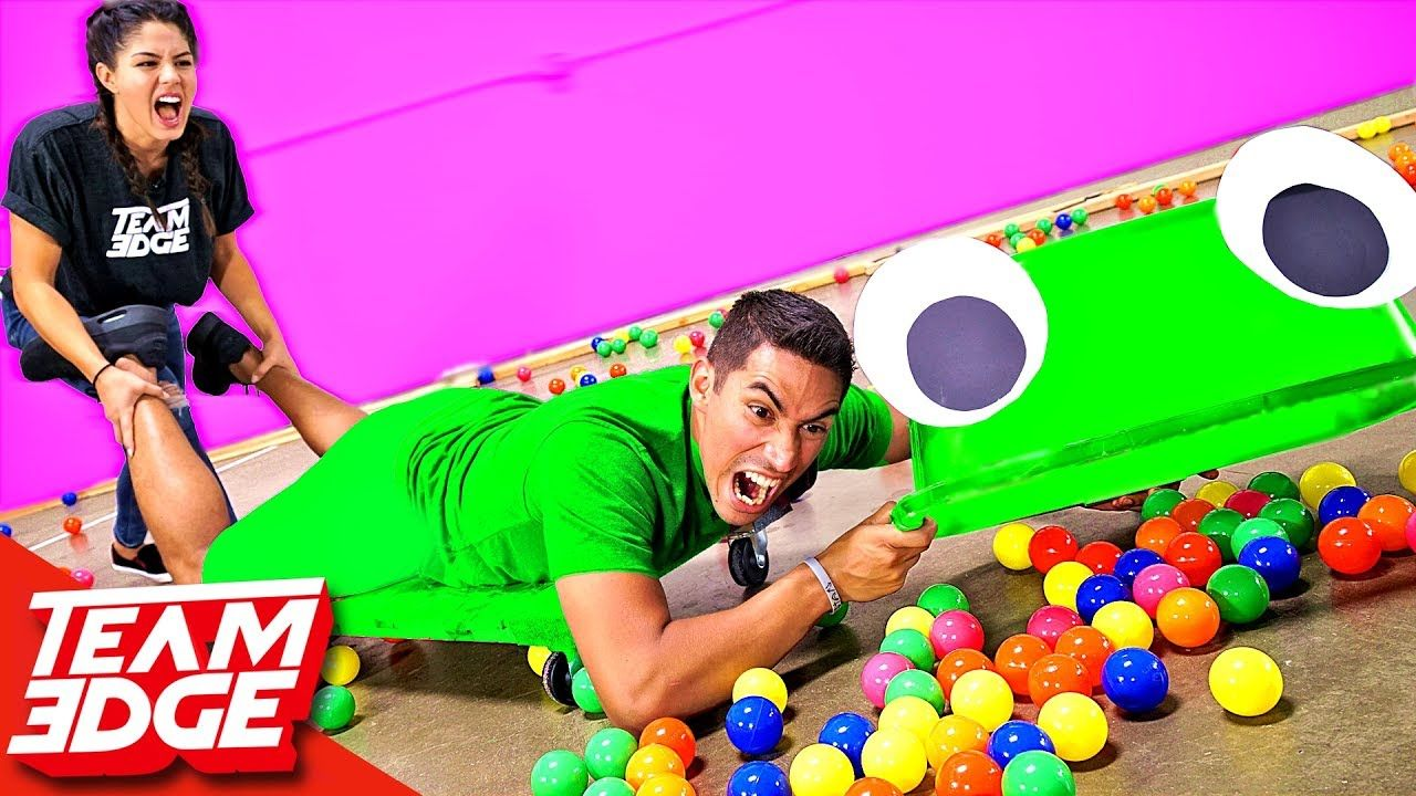 Giant hungry hungry hippos challenge youtube
