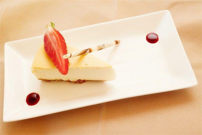 Baked Vanilla Cheesecake Sweet Buffet Wedding Food Drink Food