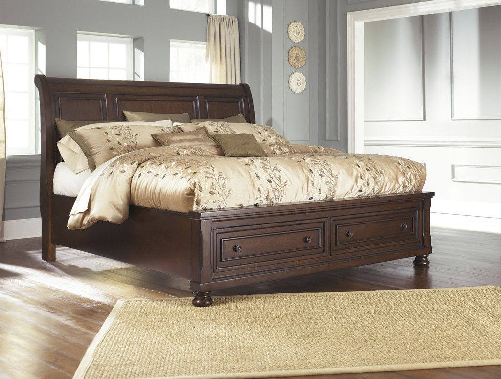Porter king sleigh storage bed storage beds furniture collection
