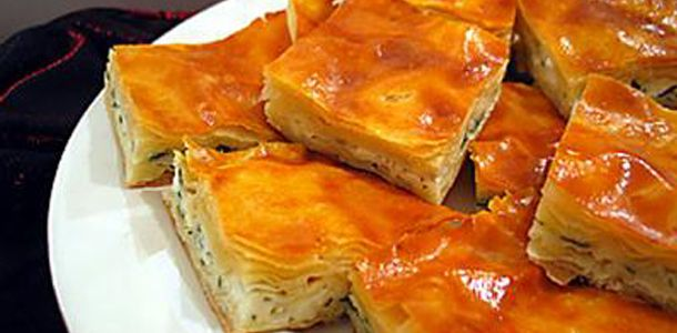 ARMENIAN BOREG .... 1 pack filo dough 1/3 cup parsley 1/2 pound cottage cheese 1 pound muenster cheese 2 eggs Butter