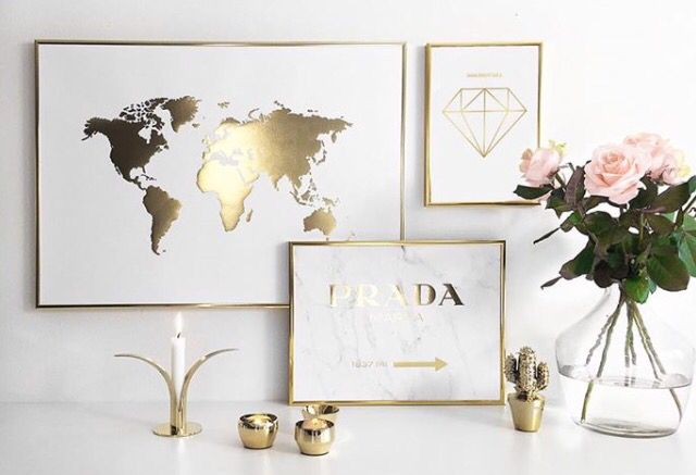 Gold posters desenio inspo pinterest gold room and interiors world map poster gold posters desenio gumiabroncs Images