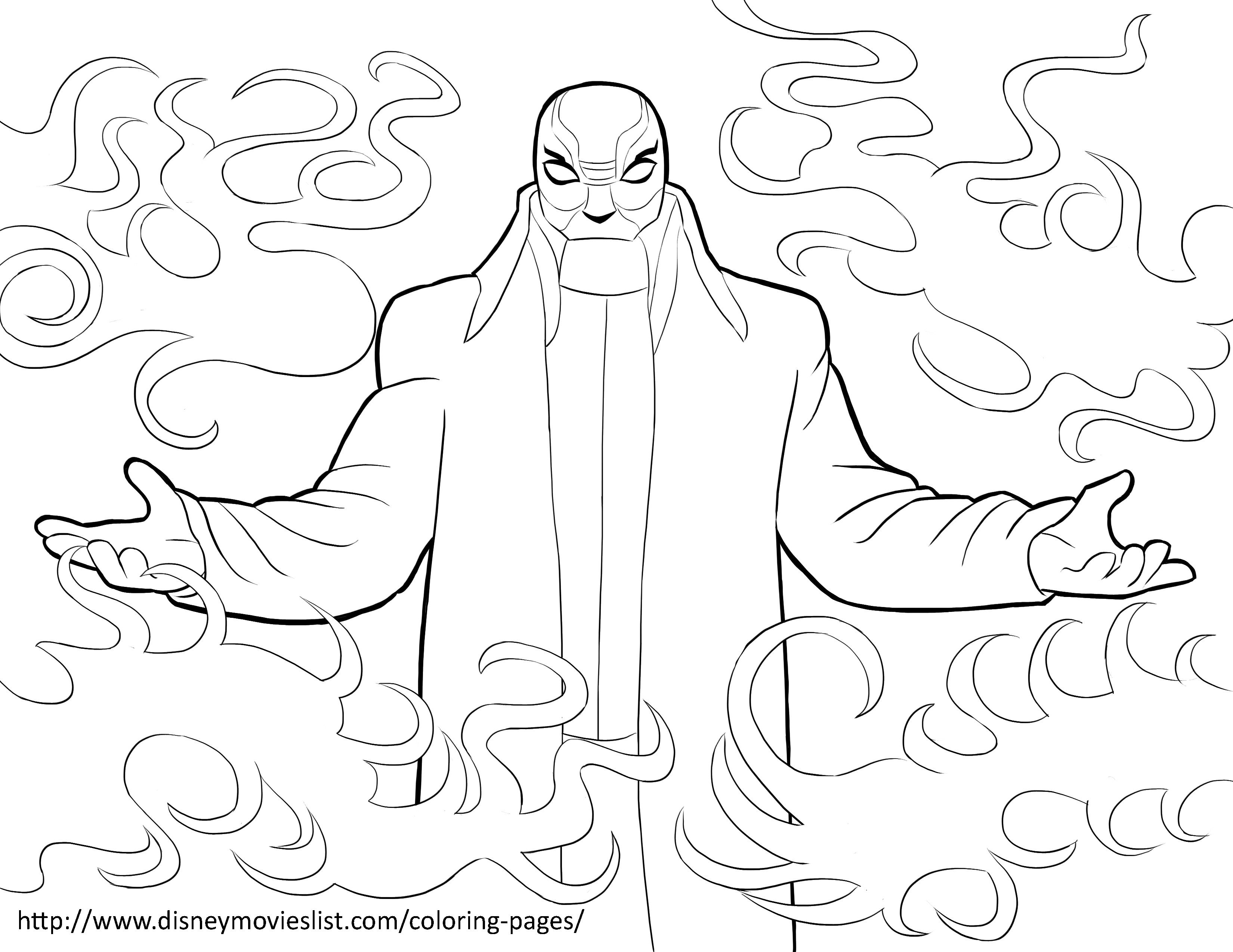 Yokai Is The Evil Mystery Bad Guy In Movie Big Hero 6 Who Behind That Mask Print Out And Have Fun With This Free Coloring Page