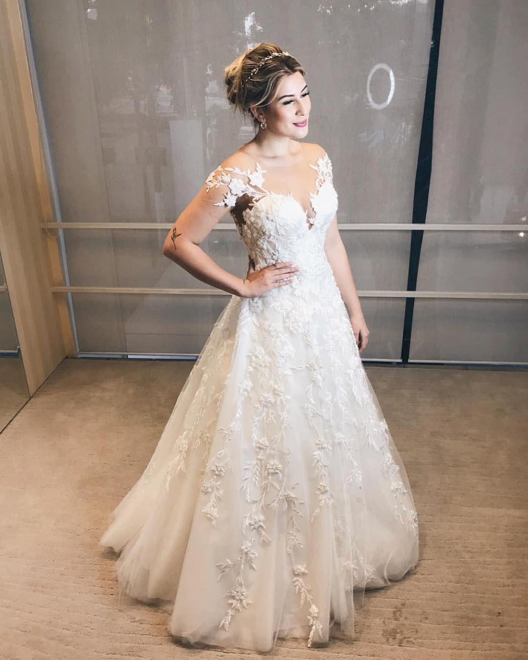a0190eda0 Vestido de Noiva  Dress   bride  dress Noiva  Niina Secrets  Princesa   Casamento  marriage