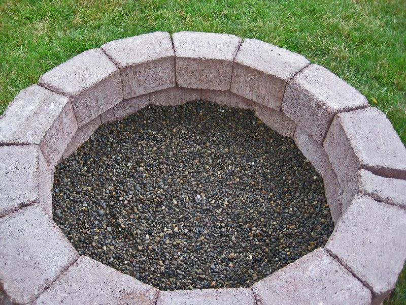 Diy Simple Brick Firepit In About An Hour Outdoor Fire Pit