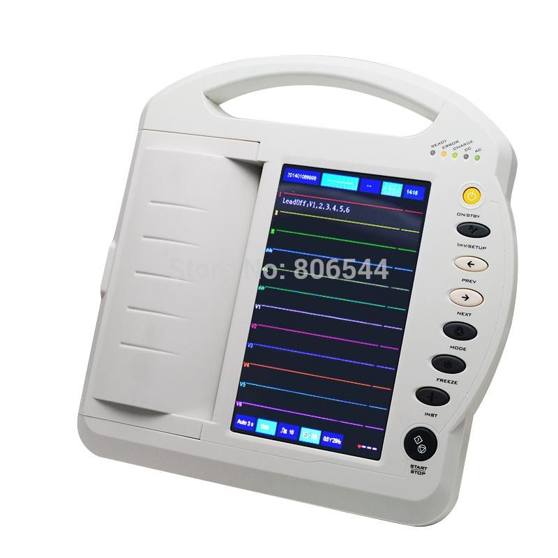 Health Monitors Care Lcd Portable Digital 12 Channel Electrocardiograph Ecg Machine Ekg Machine Ekg 1212a High Quality Aaa Health Ekg Care