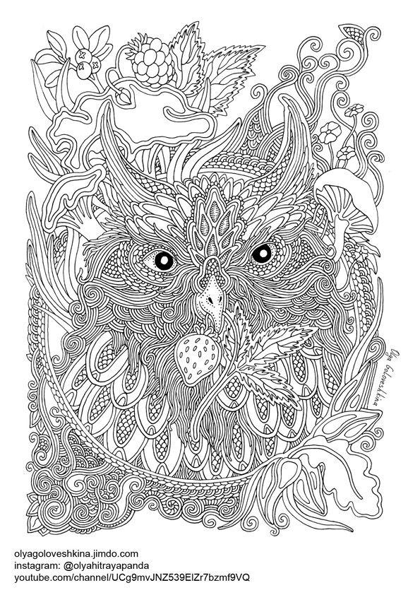 Free Coloring - Сайт olyagoloveshkina | owls | Pinterest ...