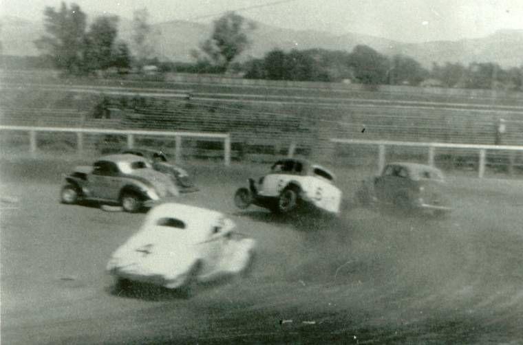 Vintage Dirt Track Stock Car Racing Old School Racing