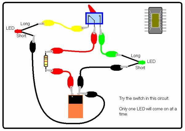 Switch With Two #LED Circuits #ElectricalEngineering #EEE