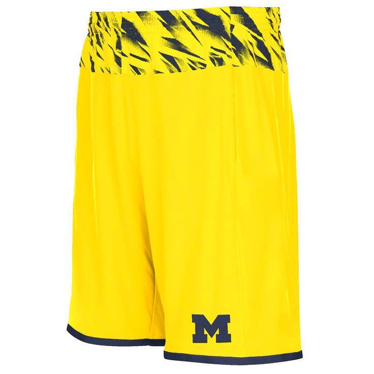 Michigan Wolverines adidas Players Sideline Shorts - Maize - $37.04