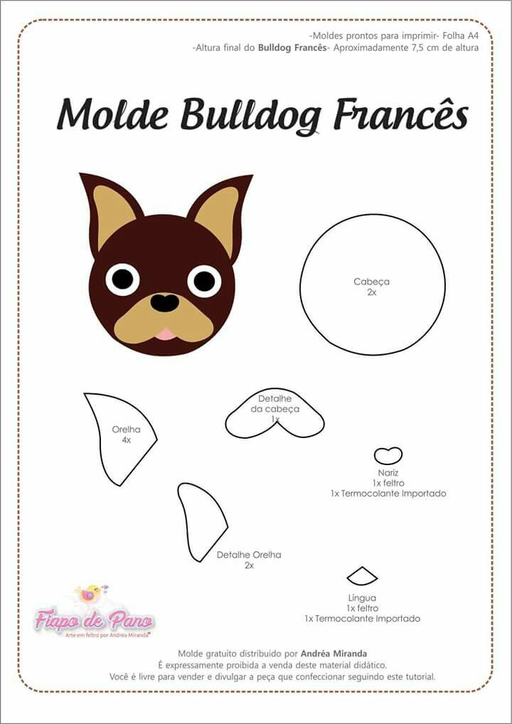 Pin by on pinterest needle felting tutorials felt crafts printable templates dog template animal templates felt dogs bulldog frances felt patterns needle felting tutorials dog pattern maxwellsz