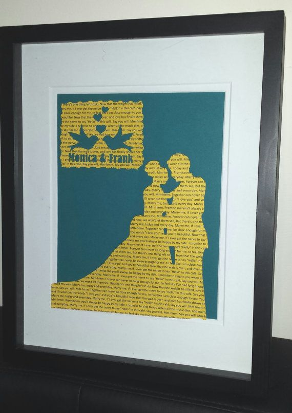 Wedding First Dance Lyric Anniversary Gift by uNiqueCreations000 ...