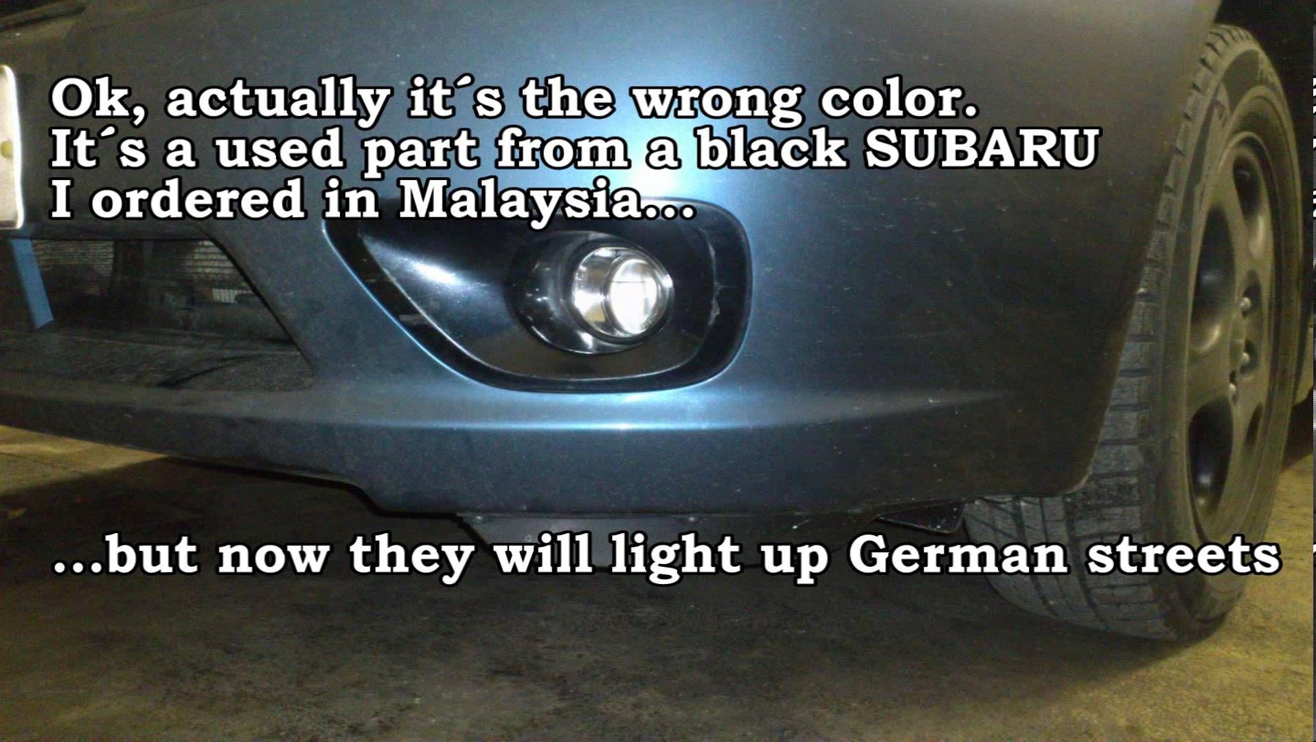 Installation SUBARU LEGACY BP Fog lights. Nachrüstung ...