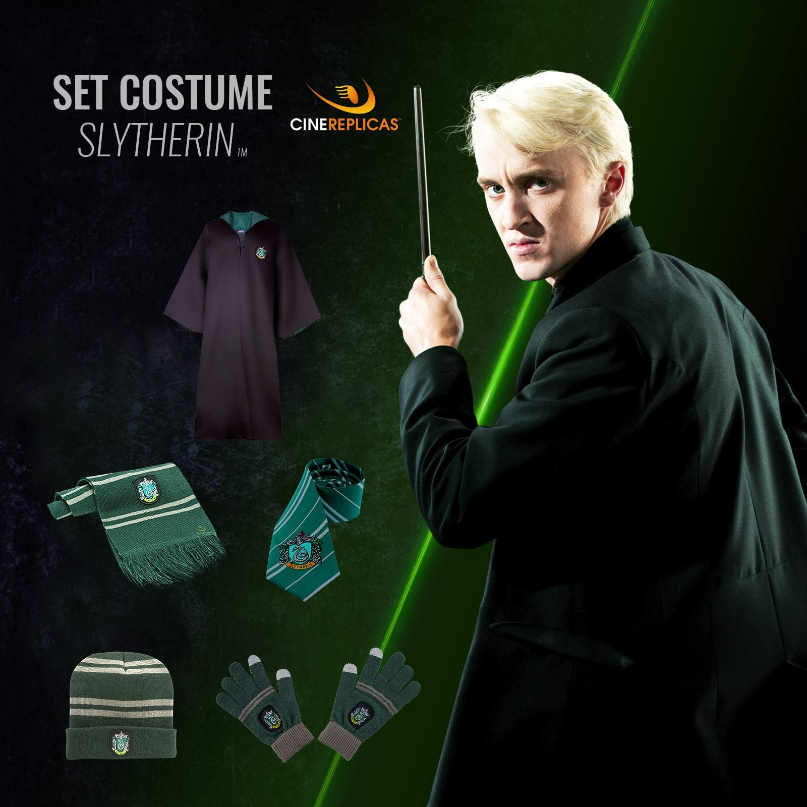Slytherin Full Uniform Slytherin Hogwarts Uniform Uniform