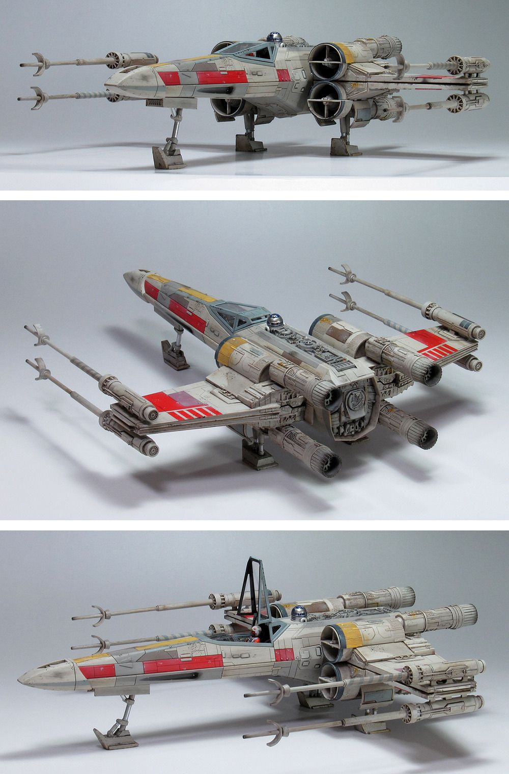 G Cube S Bandai X Star Wars 1 48 X Wing Starfighter Moving Edition A Beautiful Photo Review Links Info Star Wars Vehicles Star Wars Models Star Wars Images