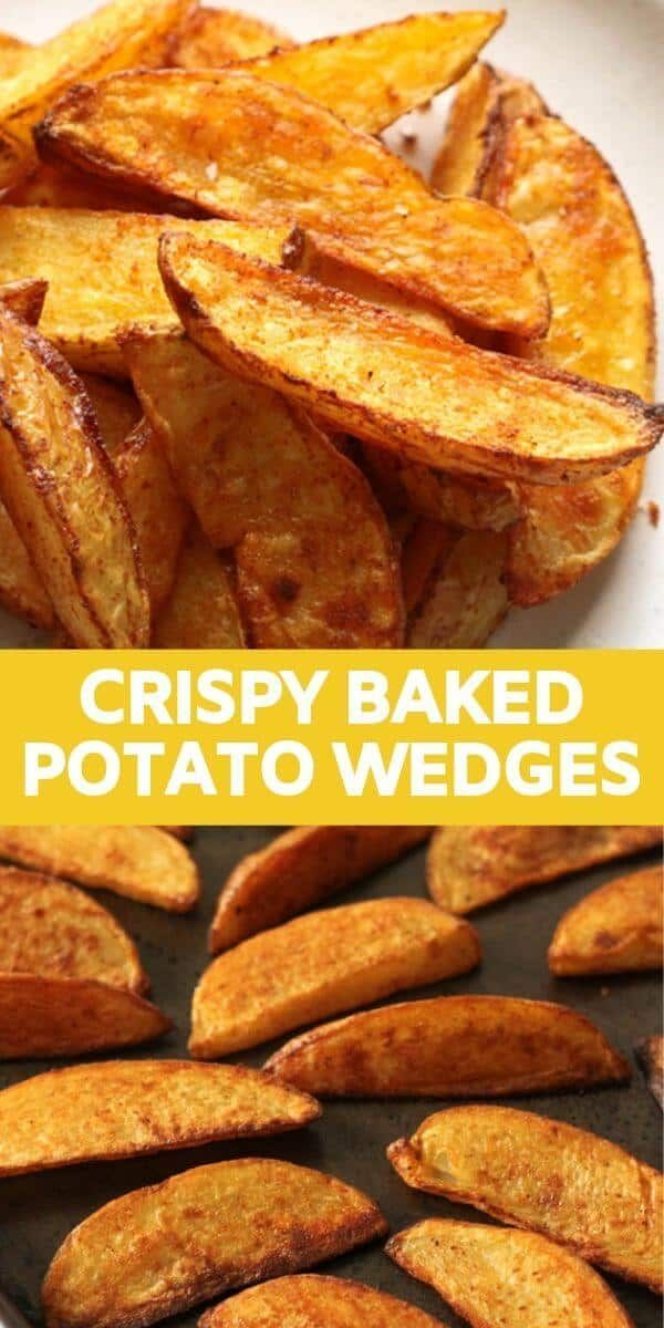 Crispy Baked Potato Wedges Recipe | Cook It Real G