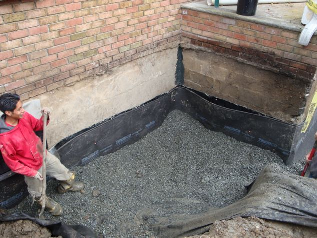 Exterior Waterproofing Membrane And Foundation Drain Waterproofing Basement Basement Exterior Solutions