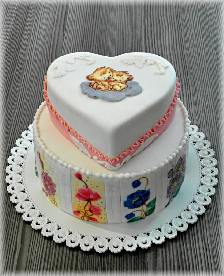 Hand painted cake by Mischell