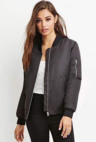 41ec96131 Padded Bomber Jacket | Products | Bomber jacket, Jackets, Fashion