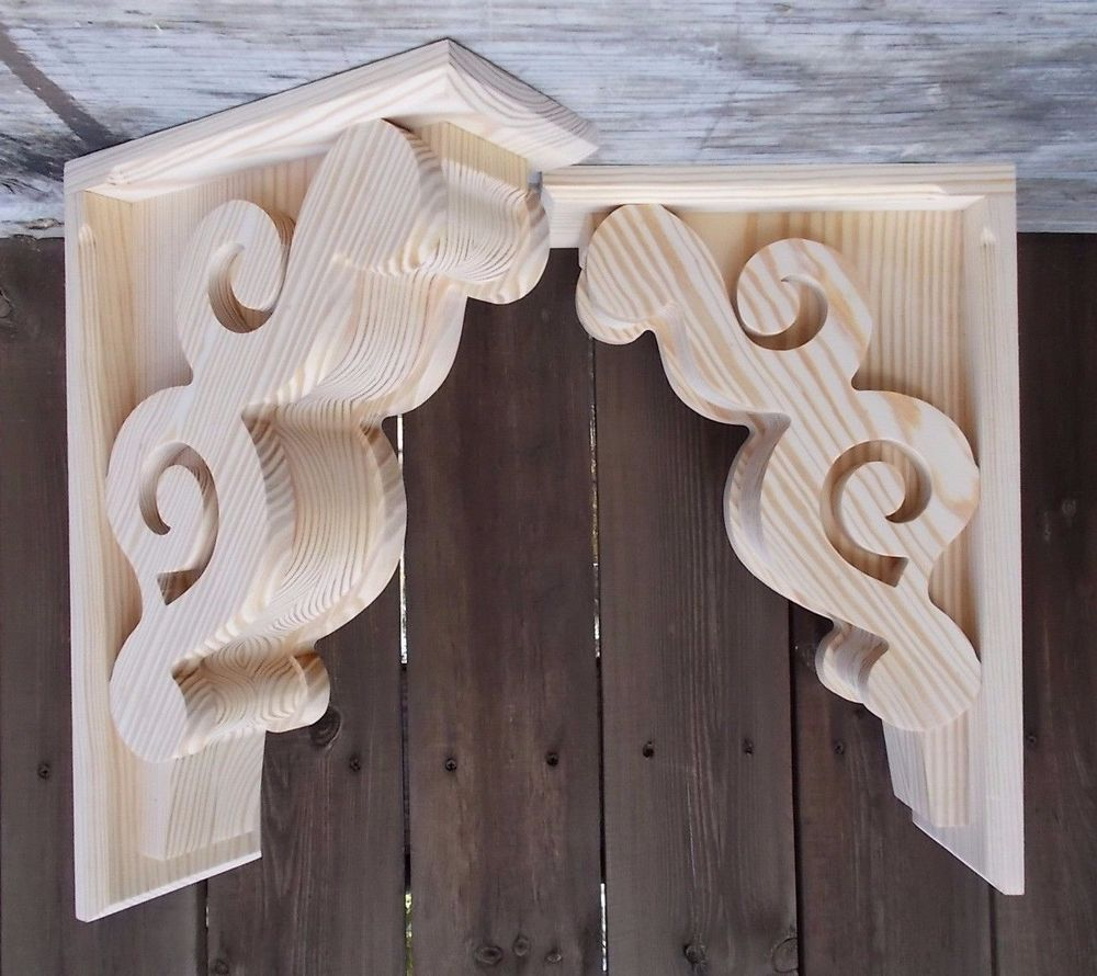Set Of 2 Large Victorian Design Corbels 11 X 17 X 5 Scw 6211d Shakybird Corbels Wood Corbels How To Antique Wood