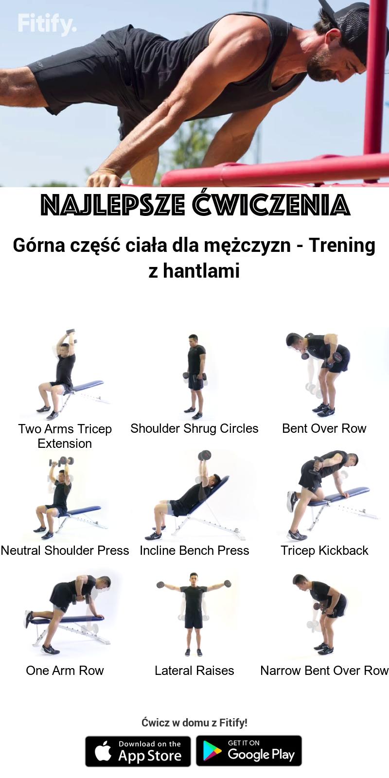 Najlepsze Ćwiczenia Górna część ciała dla mężczyzn