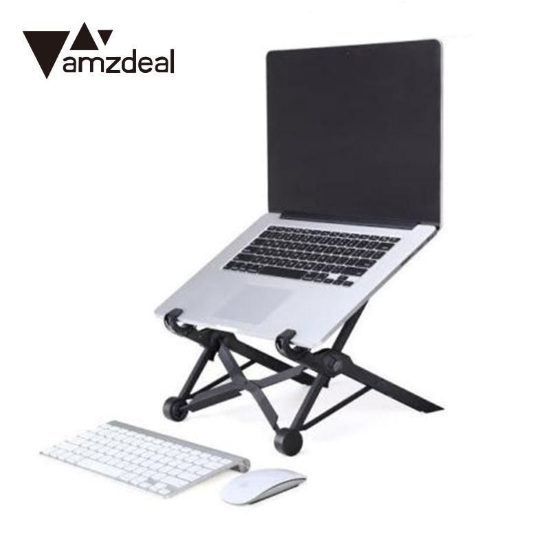 Amzdeal Folding Laptop Stand Portable Stand Adjustable Height Laptop
