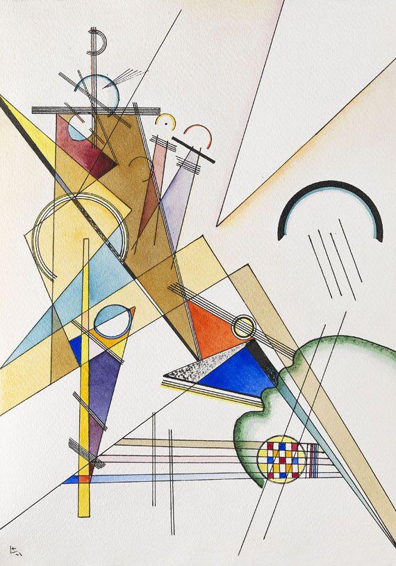 Wassily Kandinsky Gewebe 1923 Ketterer Kunst ...