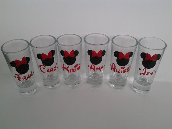 Personalized Disney Wedding Gifts: Personalized Disney Shot Glass Set 6 By