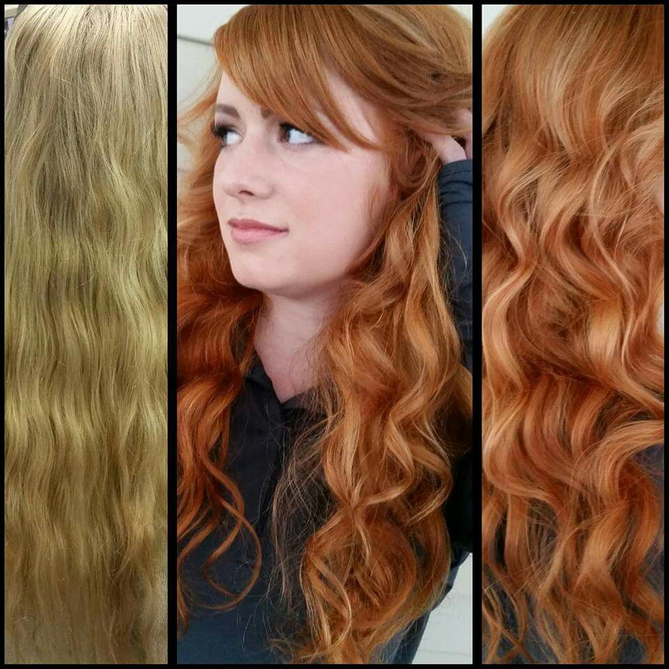 Before And After Blonde To Natural Red Ginger Strawberry