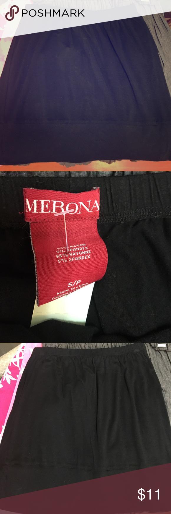 Merona black skirt Excellent condition black Merona skirt size small Merona Skirts Midi