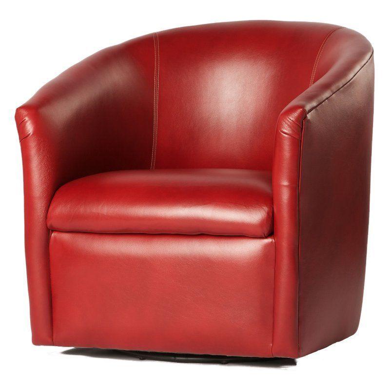 Comfort pointe draper swivel barrel chair red 200003